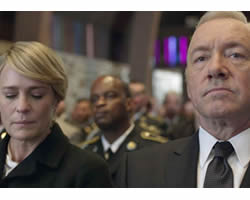 Robin Wright y Kevin Spacey son los perversos Underwood.